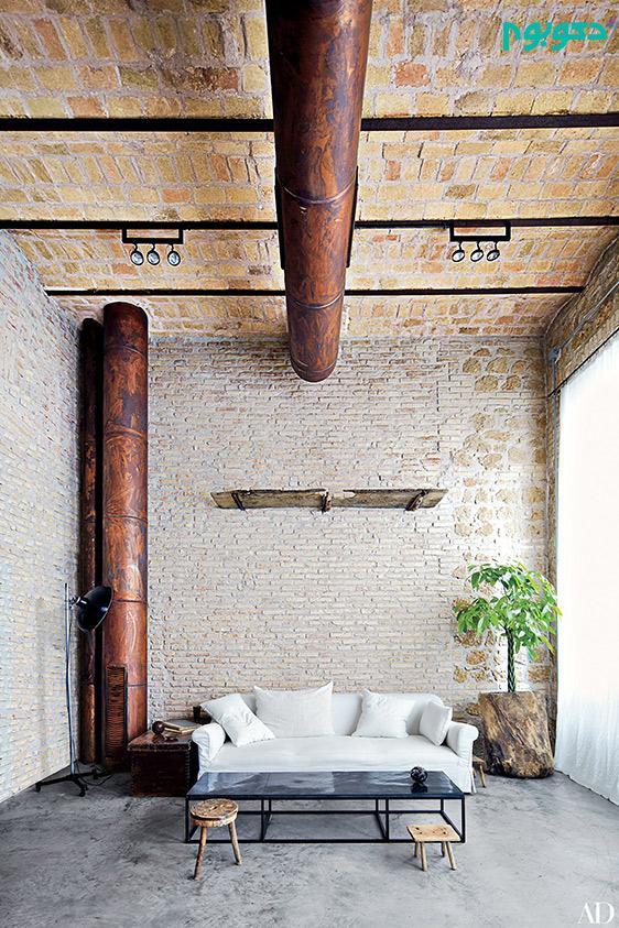 دیوار های آجری نمایان در دکوراسیون منزل