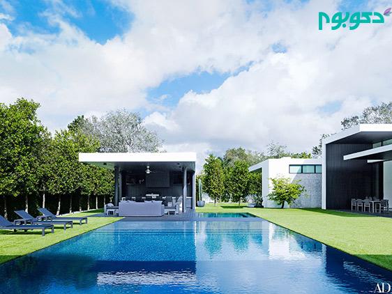 دکوراسیون منزل افراد مشهور: طراحی جالب توجه استخر