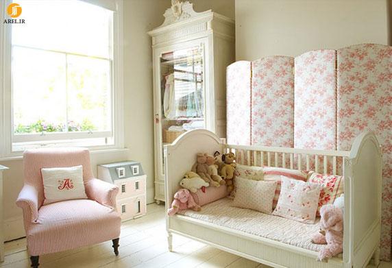 1 nursery girls bedroom 5 700x479 دکوراسیون های داخلی اتاق خواب دخترانه