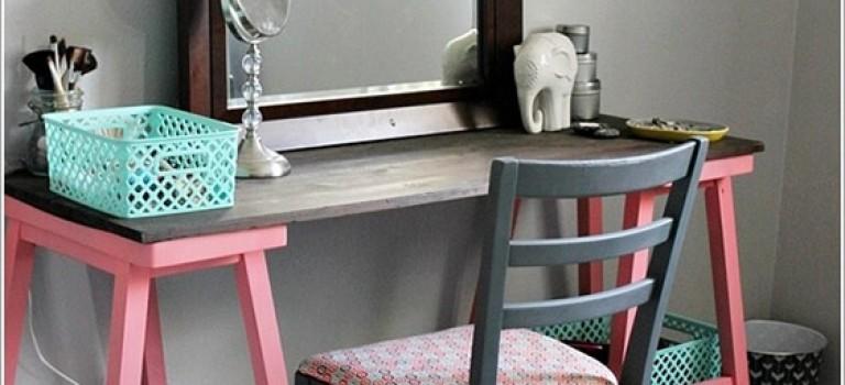 ۱۰ ایده مقرون به صرفه برای طراحی میز آرایش