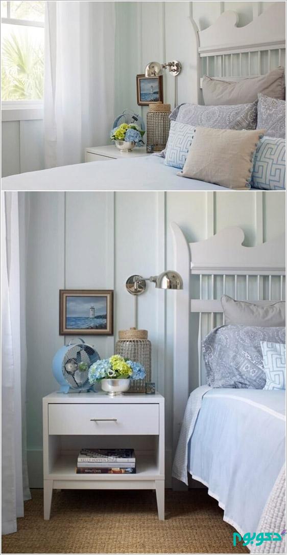 جلوه میز پای تخت در دکوراسیون داخلی اتاق خواب