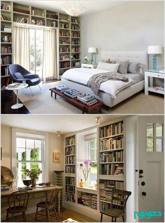 فضاهایی برای نمایش کتاب ها در دکوراسیون منزل