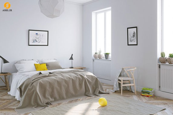 چند نمونه دکوراسیون داخلی آپارتمان مدرن با رنگ زرد