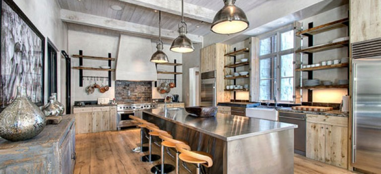 جزیره ای از جنس استیل در مرکز آشپزخانه