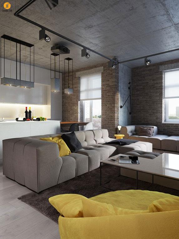 چند نمونه دکوراسیون داخلی آپارتمان با رنگ زرد