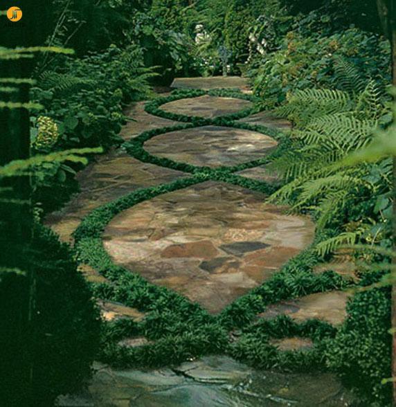 چند ایده طراحی مسیر در محوطه سازی باغ