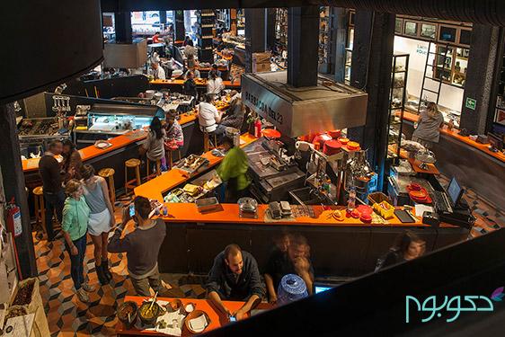 دکوراسیون داخلی بازارچه Mercado Roma