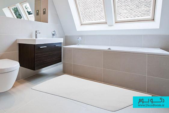 کاربرد قالیچه و فرش در دکوراسیون داخلی حمام