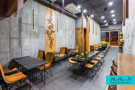 معماری داخلی رستوران AJA