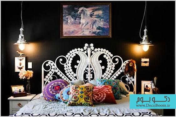 دیوار کوچکترین اتاق خواب ها هم می تواند زیبا باشد!