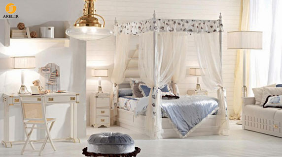 مدل های دکوراسیون داخلی اتاق خواب دخترانه کلاسیک