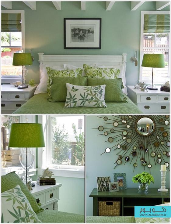رنگ سبز در دکوراسیون داخلی اتاق خواب