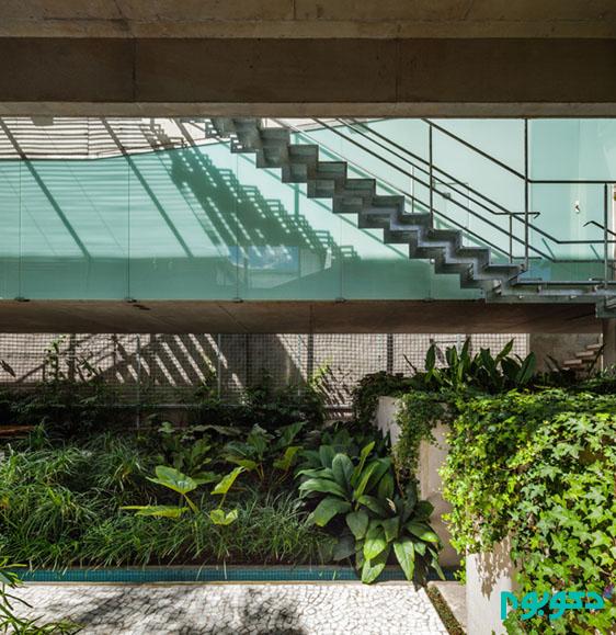 دکوراسیون داخلی ویلا به سبک طبیعت سائوپائولو