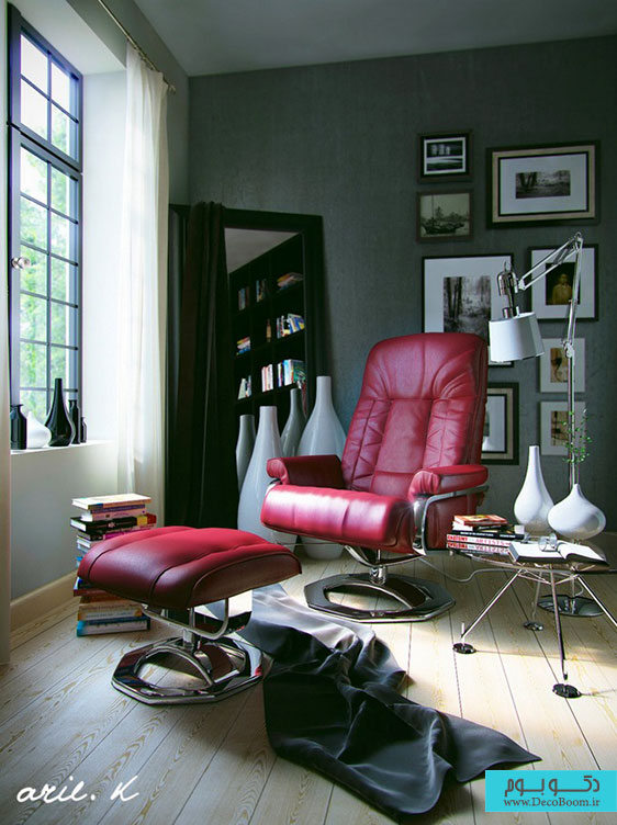 9-Red-leather-chair-footstool