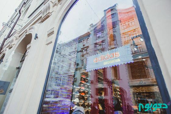 طراحی داخلی نمایندگی آدیداس در روسیه