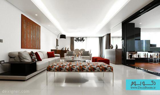 آپارتمان Rez-of-garden طراحی شده توسط Roland Helou