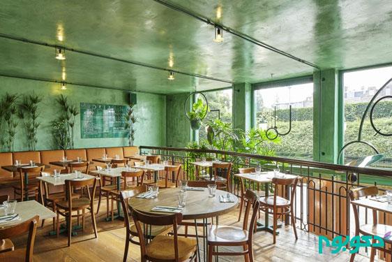 دکوراسیون داخلی کافه به سبک با طراوت استوایی