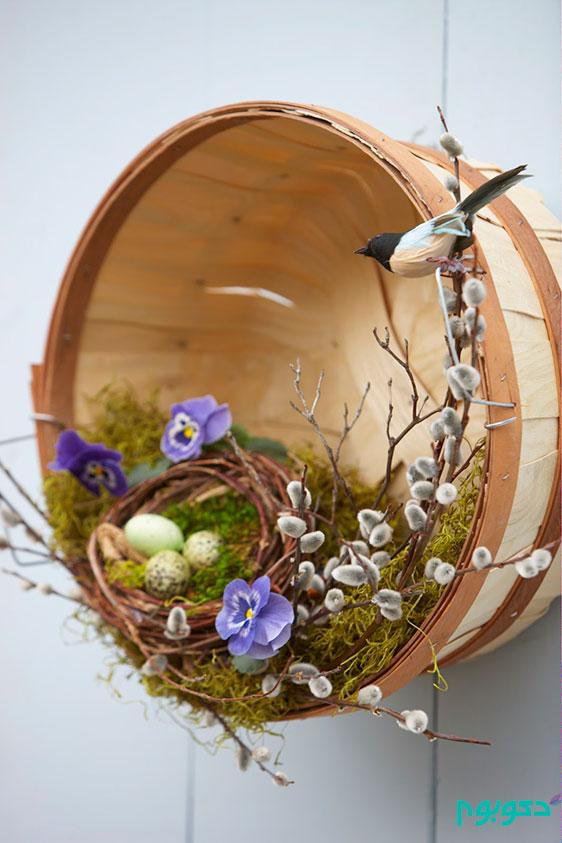 حلقه ی تزیینی در ورودی در استقبال از بهار
