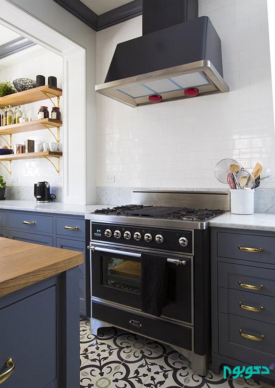 حکمرانی سفید و طوسی در دکوراسیون آشپزخانه