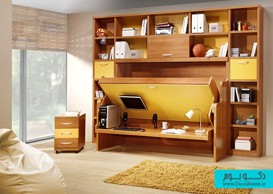 Best-Storage-Ideas-For-Small-Spaces-Ideas-which-is-Implemented-with-Brown-Wooden-Shelf-Brightened-by-Cream-Side-Lamp-and-Cube-in-the-Room-Corner-as-Storage-Ideas-for-Small-Spaces