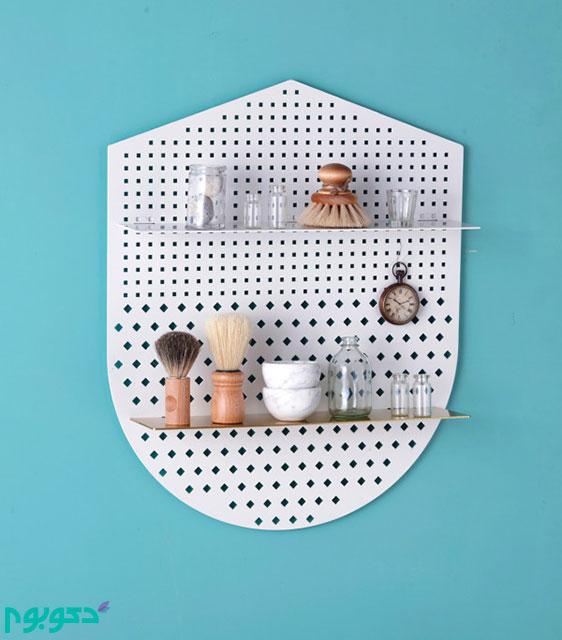 قفسه های فلزی ایده ای نوین در دکوراسیون داخلی خانه
