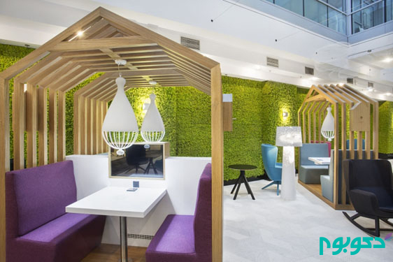 فضا های کار و ملاقات در طراحی داخلی این مرکز خرید