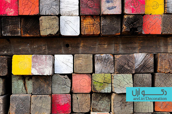 Colored-Wood-Paint-Lumber-Phots