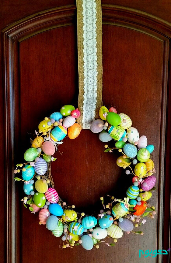 حلقه ی در ورودی در استقبال از بهار