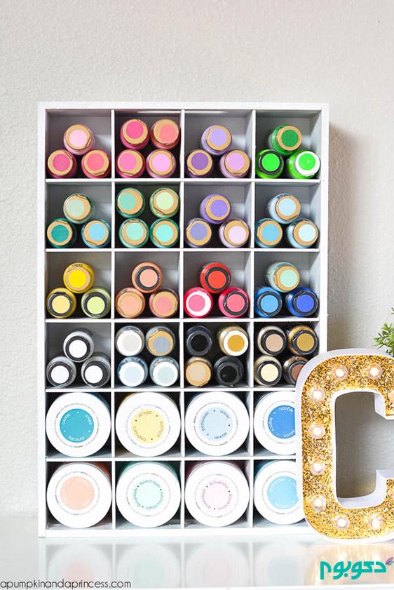 خلاقیت در نگهداری وسایل و تجهیزات ساخت کار های هنری