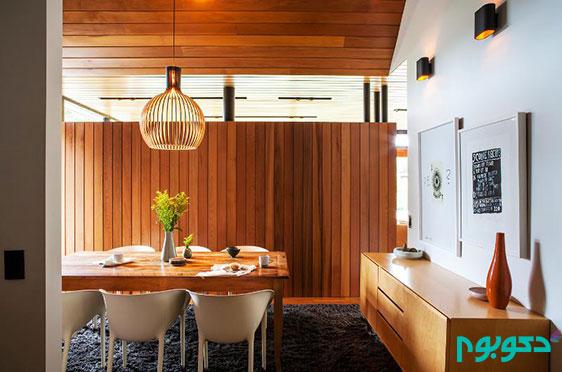 اتاق غذا خوری با دکوراسیونی روح بخش