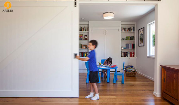 بخش اول : 25 ایده استفاده از درب کشویی چوبی در دکوراسیون منزل