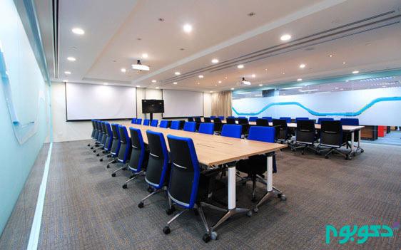 دکوراسیون داخلی دفتر فناوری در سنگاپور