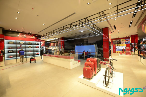 طراحی داخلی فروشگاه فِراری در دبی