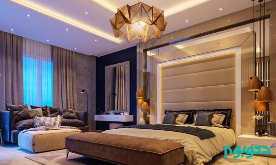 طراحی داخلی لاکچری اتاق خواب