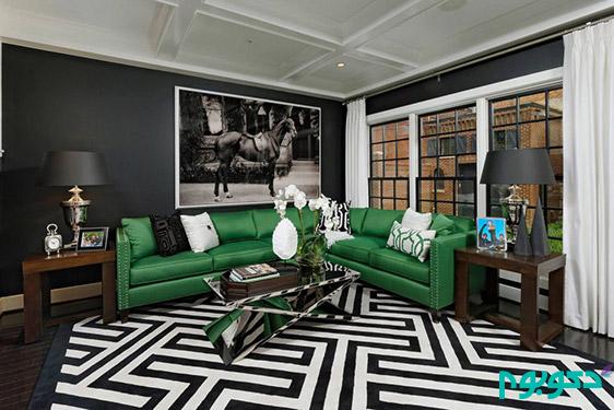 بازی سیاه و سفید فرش ها در دکوراسیون داخلی