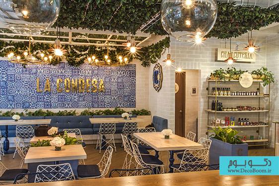 معماری داخلی رستوران La Condesa