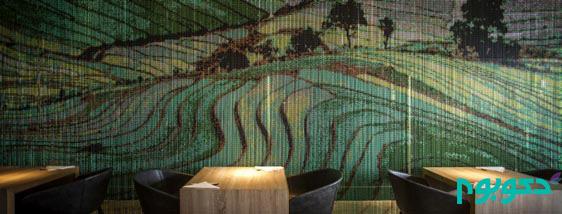 طبیعت و بافت های خلاقانه در دکوراسیون این رستوران