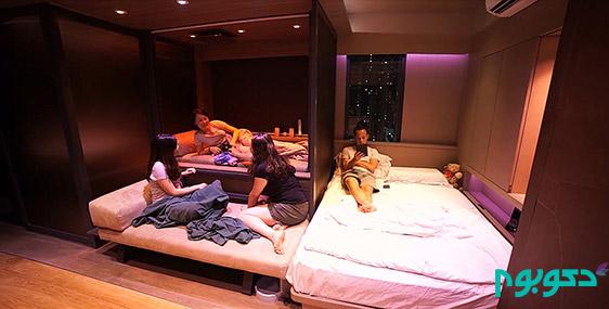 طراحی متفاوت آپارتمان 30 متر مربعی در هنگ کنگ