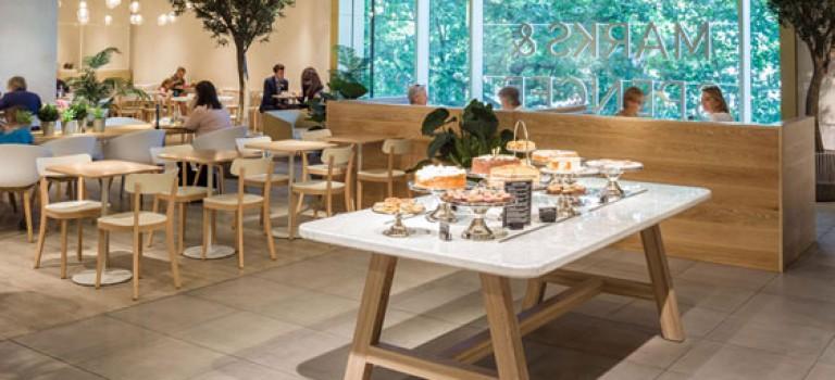 طراحی داخلی کافه M&S
