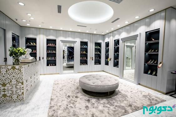 طراحی داخلی لوکس فروشگاه Manolo Blahnik در مسکو