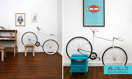 ایجاد فضای نگهداری دوچرخه با طراحی مبلمان خانه