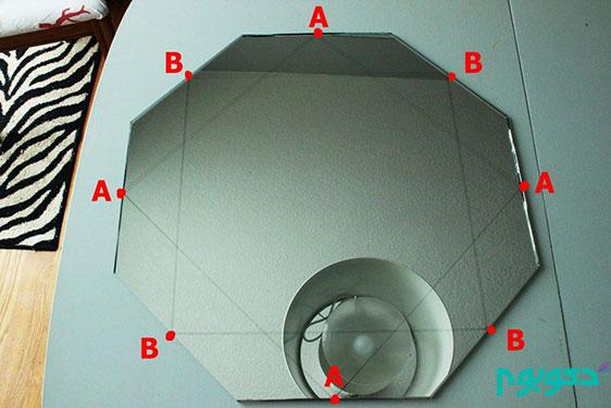دکوراسیون داخلی و ایده ی ساخت آینه تزیینی