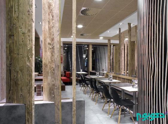 طراحی داخلی شعبه رستوران مک دونالد