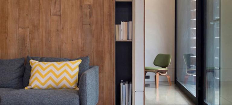 بخش اول : ۲۵ ایده استفاده از درب کشویی چوبی در دکوراسیون منزل