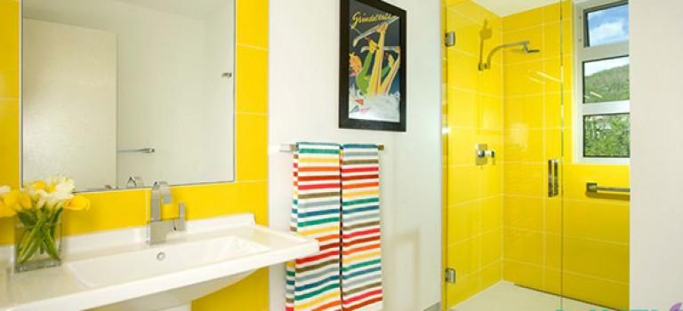 رنگ های باطراوت در دکوراسیون داخلی حمام