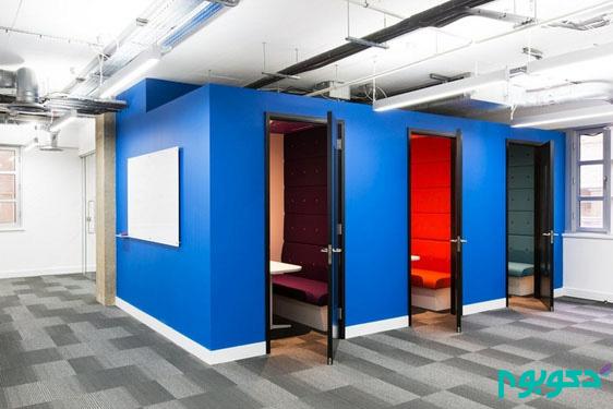 دکوراسیون داخلی دفتر کار با ایده های هیجان آور