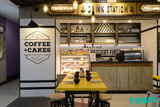 دکوراسیون داخلی نودل بار در اندونزی با الهام از فضای مترو