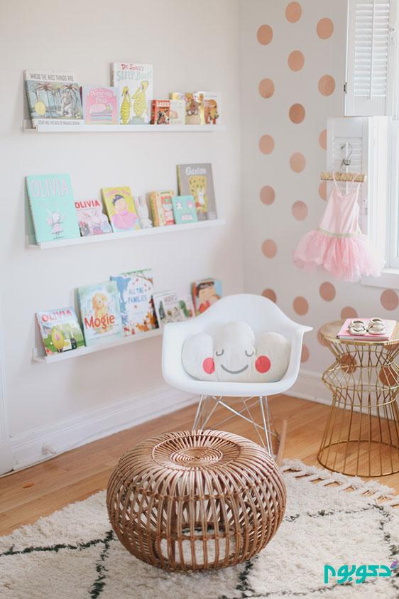 Nursery-corner-with-polk-dots