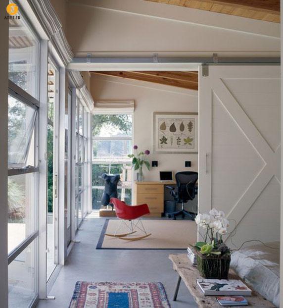بخش دوم : 25 ایده استفاده از درب کشویی چوبی در دکوراسیون منزل