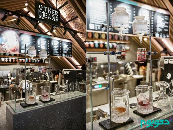 طراحی داخلی tea bar در شانگهای